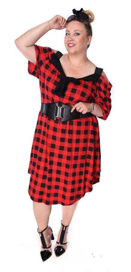 Sukienka Krata czerwień