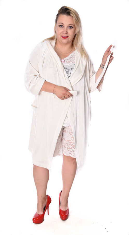 Piżama koronka biel