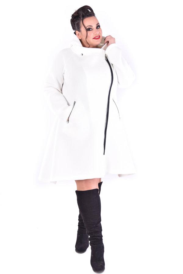Biały płaszcz piankowy