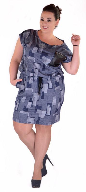 Sportowa sukienka odcienie granatu