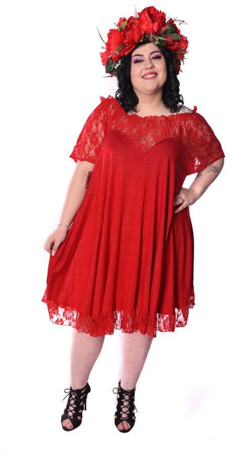 Koszula Nocna czerwona