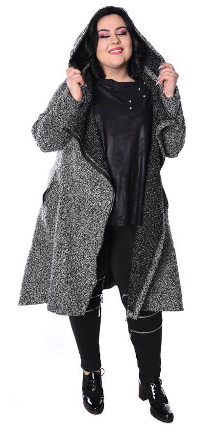 Płaszcz wełna szary