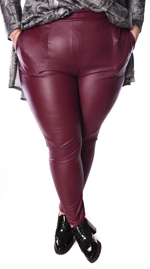 Spodnie bordo eco