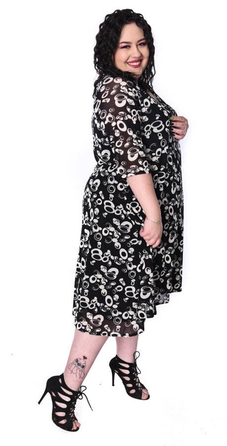 Sukienka czarno biała