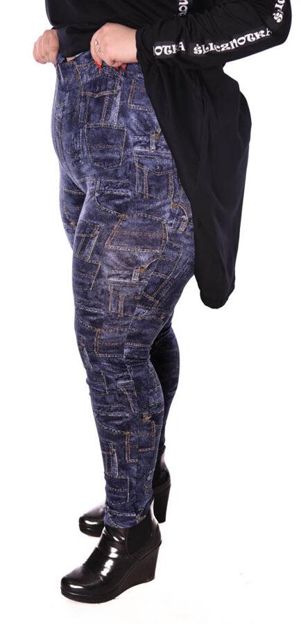 Spodnie kieszonki ciemny jeans