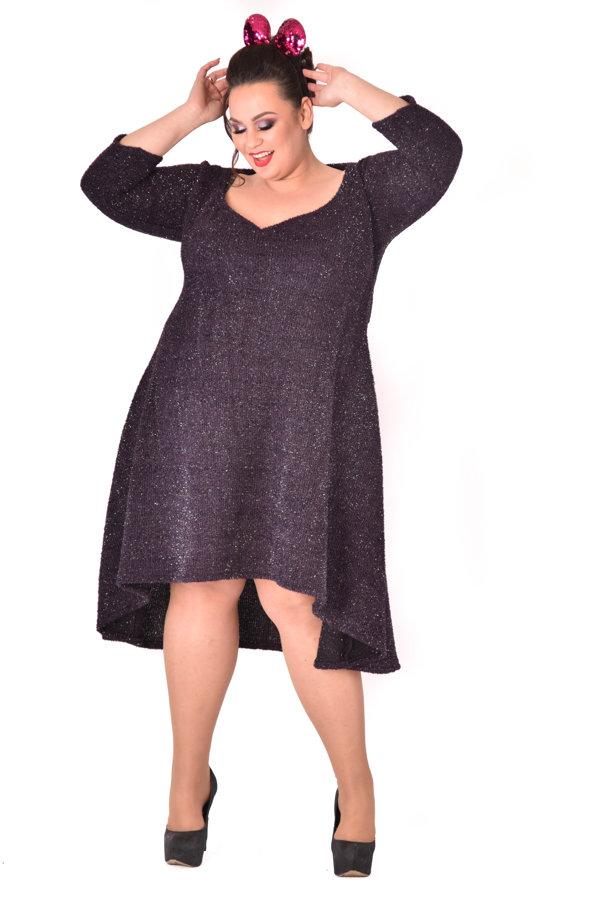 Sukienka brokatowa granat