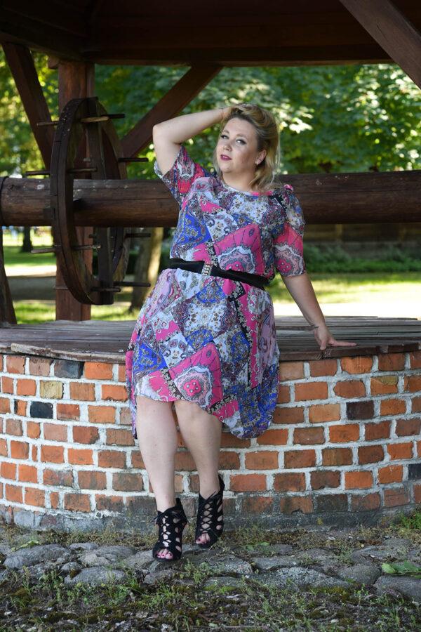 Sukienka szyfon orient