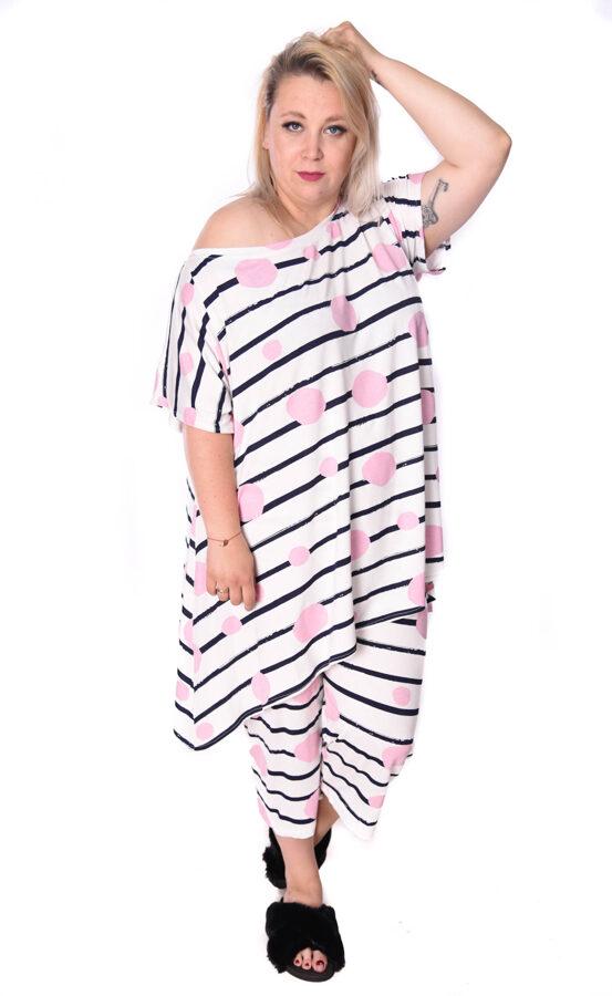 Piżama w różowe balony