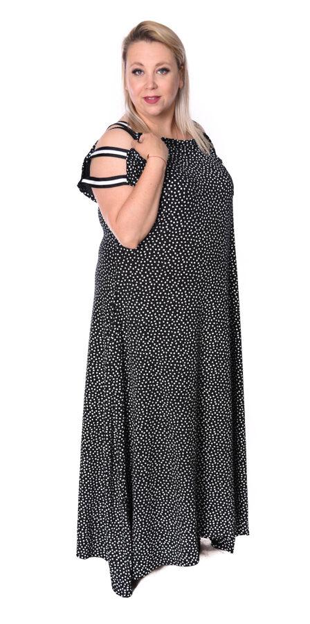 Sukienka maxi czarna w kwiaty