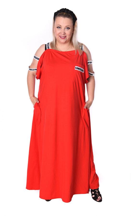 Sukienka czerwona maxi