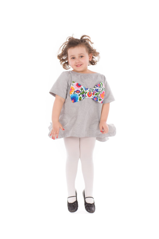 Tunika z kokardą folkową dziecięca