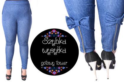 Spodnie z kokardami jeans