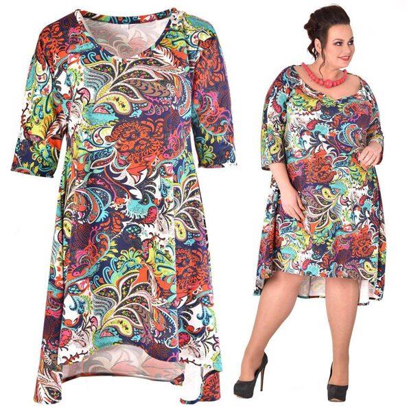 Sukienka abstrakcja