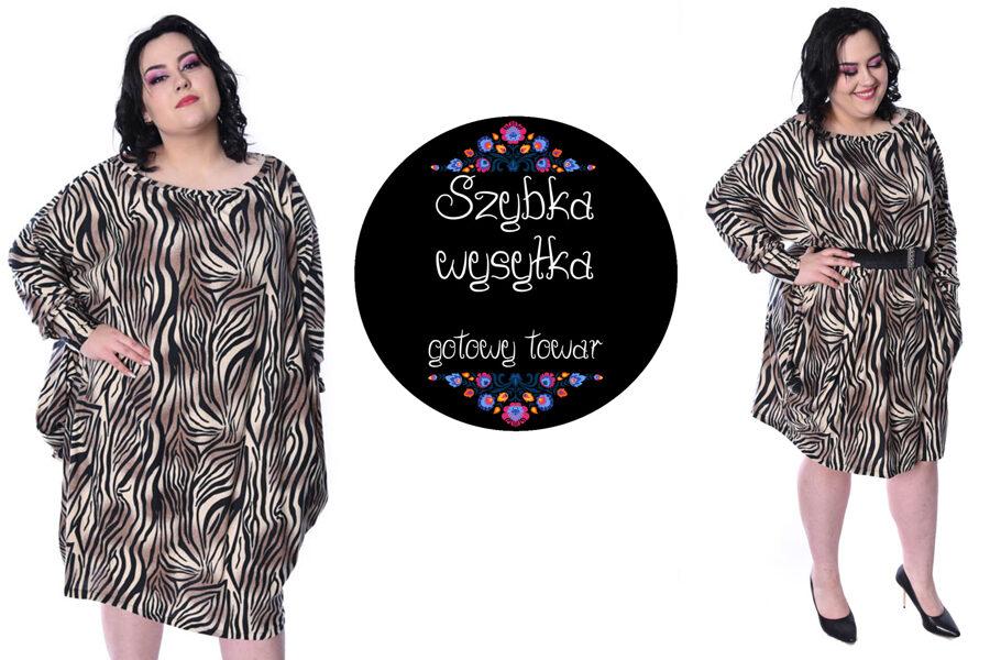 Sukienka over zebra capucino