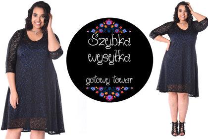 Sukienka koronkowa czarna chaber