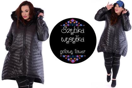 Czarna ciepła kurtka zimowa- OSTATNIE SZTUKI !