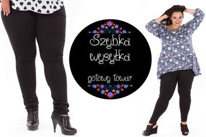 Spodnie czarne gładkie rurki